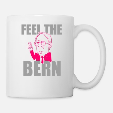 Bernie Sanders Feel The Bern Funny Cool Men's and Women's T-shirt - Coffee/Tea Mug