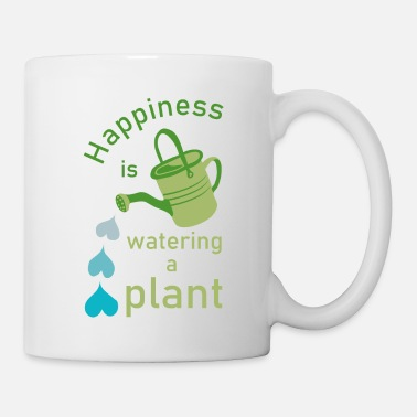 Typo Happiness is watering a plant - Mug