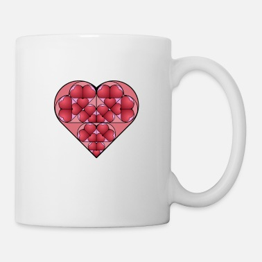 heart shapes dark valentine's day gift girlfriend - Mug