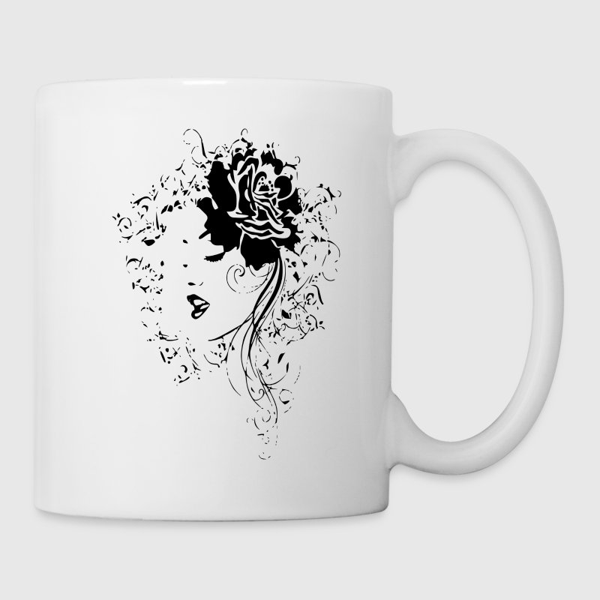 BEAUTIFUL FACE LINE ART (black ink) by Kricket Kountry | Spreadshirt