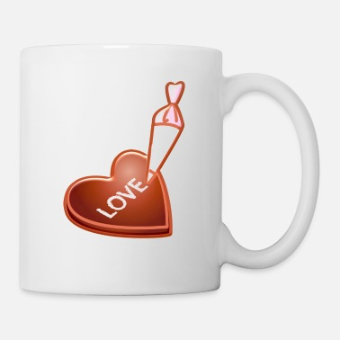 Baking Heart Cake Cooking confectionery pastry - Mug