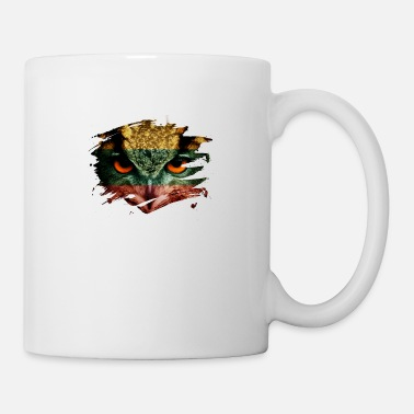 Lithuania Lithuania Flag and Menacing Owl - Mug