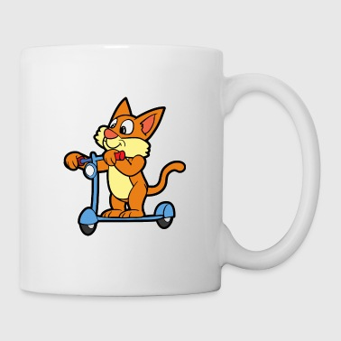 Comics Scooter Cat Kitten - Coffee/Tea Mug