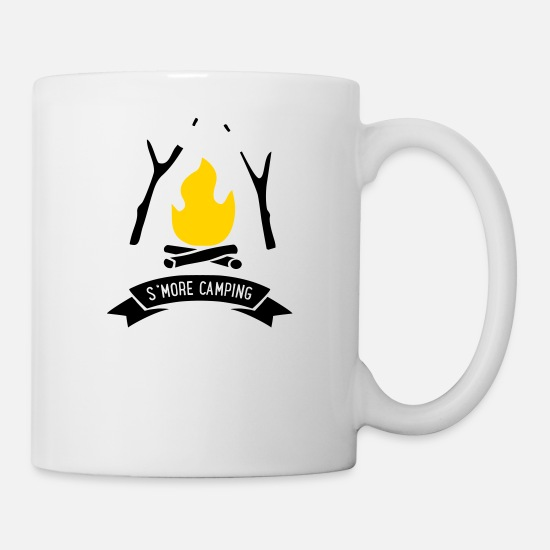 Camping Mugs & Drinkware - s'more camping - Mug white