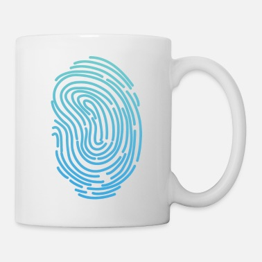 Funky Fingerprint T-shirt Design Funny Cool Graphics Tee - Coffee/Tea Mug