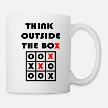 Lateral Thinker Think Outside The Box Tic Tac Toe Geschenk - Mug