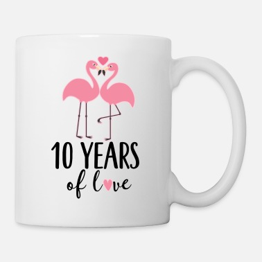 Anniversary 10th Anniversary 5 Years Love Flamingo - Coffee/Tea Mug
