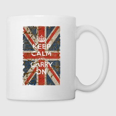 UK Flag and Keep Calm, Hybrid - Coffee/Tea Mug