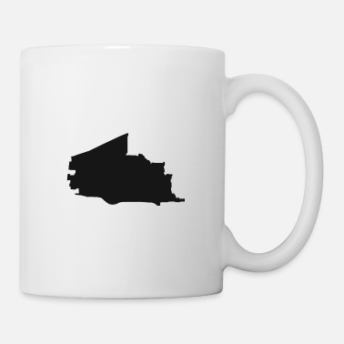 Region Plano Texas city map black illustration silhouette - Mug