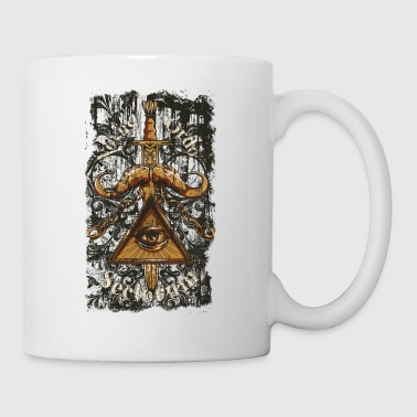 New Age NOVUS ORDO SECLORUM - new order of the ages eye - Coffee/Tea Mug
