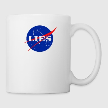 NASA LIES LOGO - Coffee/Tea Mug