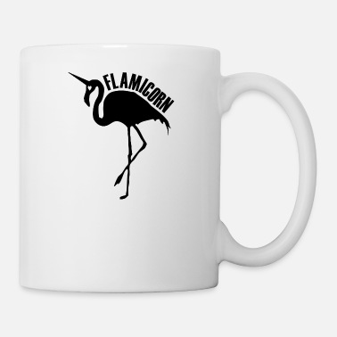 Hybrid flamingo unicorn hybrid creature hybrids black - Coffee/Tea Mug