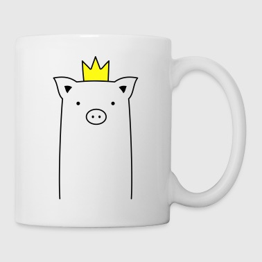 Pig with crown piglet sow - Coffee/Tea Mug