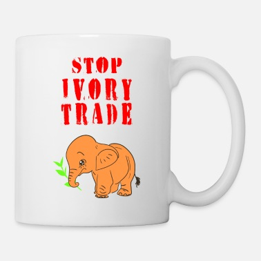 African Stop ivory trade. Save elephants. Animal rights. - Mug