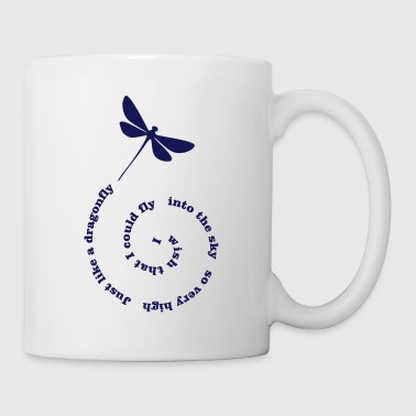 Fly Fly Away dragonfly - Coffee/Tea Mug