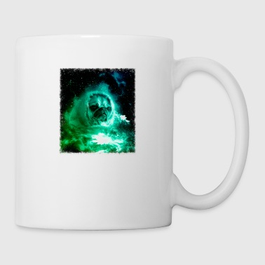 Pug In Space Shirt Pug Astronaut Galaxy Cosmic Trippy Tshirt - Coffee/Tea Mug