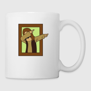 Dabbing Dab Mona Lisa - Coffee/Tea Mug