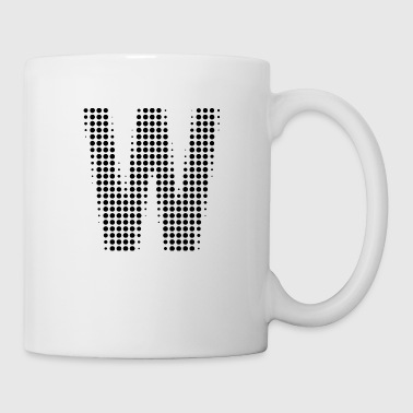 Letter W dot pattern gift - Coffee/Tea Mug
