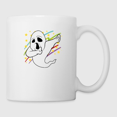 Dabbing Dab Ghost Halloween Disco Party Music - Coffee/Tea Mug