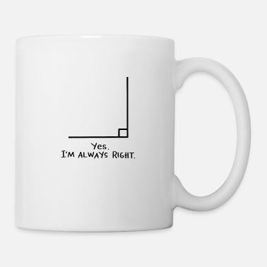 Quadrat Math geek nerd school geometry studies circle gift - Coffee/Tea Mug