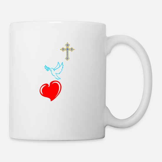 Precious Mugs & Drinkware - Faith Hope Love Tshirt - Mug white
