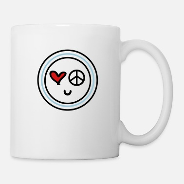 Peace Face Cute emotional face peace - Mug