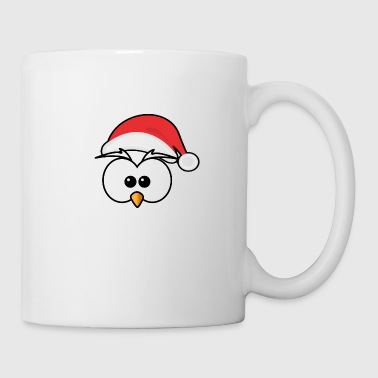 Eyes with Christmas hat and beak - Coffee/Tea Mug