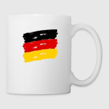Fahne Deutschland handpainted - Coffee/Tea Mug