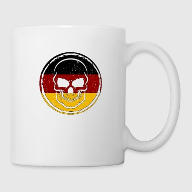 Germany Soccer Football Skull Gift idea - Coffee/Tea Mug