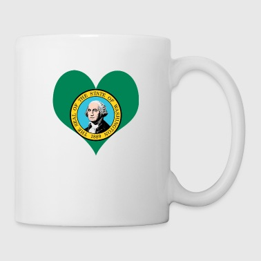 Heart Washington Love country America USA gift - Coffee/Tea Mug