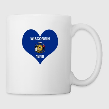 Heart Wisconsin Love country America USA gift idea - Coffee/Tea Mug