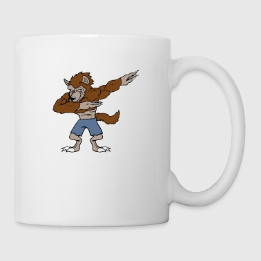 Dabbing Dancing Halloween Monster Werewolf - Coffee/Tea Mug