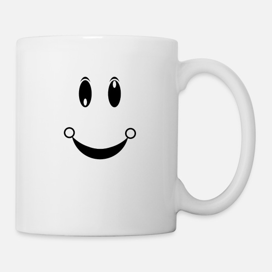 Happy Mugs & Drinkware - happiness face - Mug white