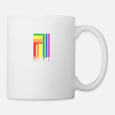 Rainbow Flag Rainbow American Flag - Coffee/Tea Mug