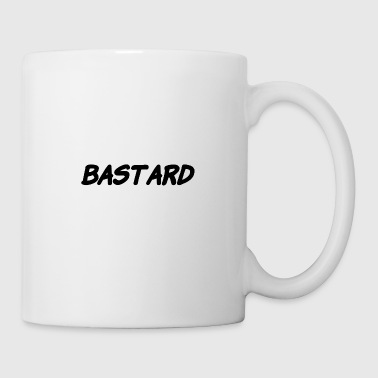 Monday you BASTARD in white and black - Coffee/Tea Mug