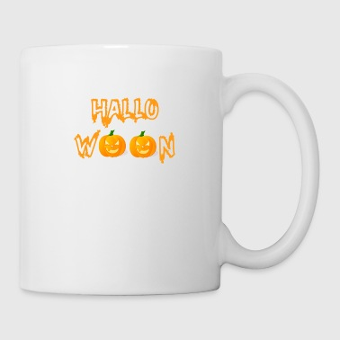 Sour Halloween in orange with pumpkins - Coffee/Tea Mug
