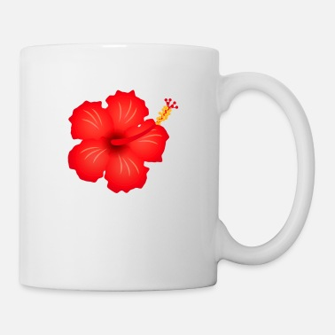 Blume hibiscus exotic flower bloom plant glora gift - Coffee/Tea Mug