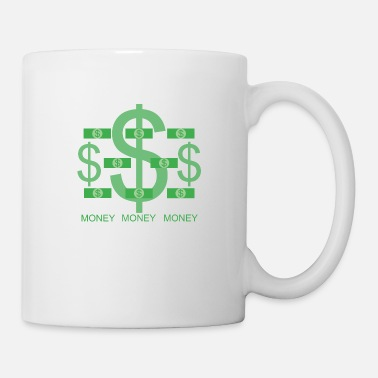 Bill Dollar signs and dollar bills in green USD - Mug