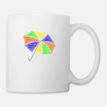 School Umbrella Shirt Word Cloud Presents - Coffee/Tea Mug