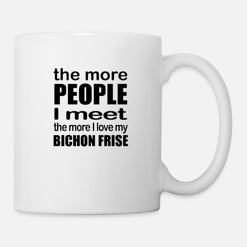 """mug /""""I love/"""" USA ceramic cup Bichon"""