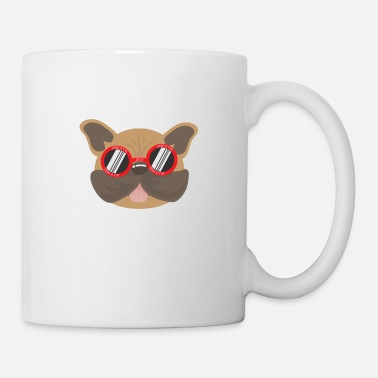 Bulldog Favorite Dogs Cute French Bulldog with Sunglasses - Mug