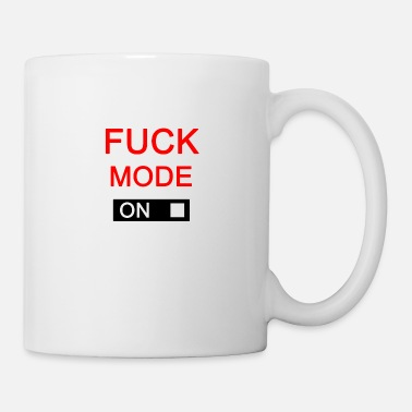Mouth Sex Fuck Mode Mood On Attitude Button Turned On - Coffee/Tea Mug