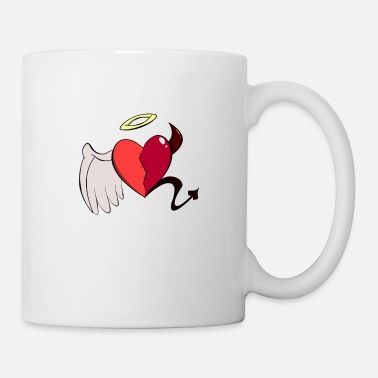 Devil Heart angel/demon - Mug