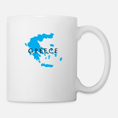 Long Greece Map Design for Men, Women and Kids - Mug