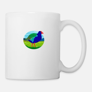 Zealand South Island Takahe Bird Oval Retro - Mug