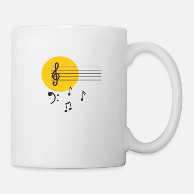 Music Symbols Note notes Music Style - Mug