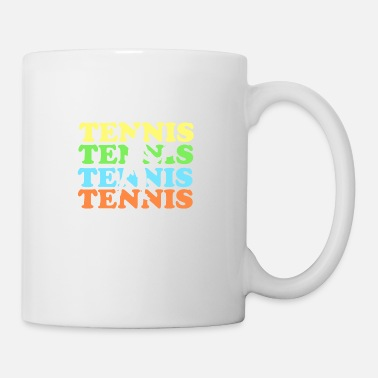 Tennis with colored font - Mug