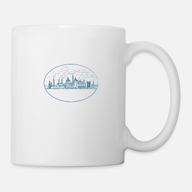 Industry Industrial Revolution Landscape Drawing - Mug