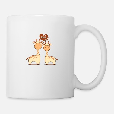 End Valentine s Day Card With Cute Couple Giraffe - Mug