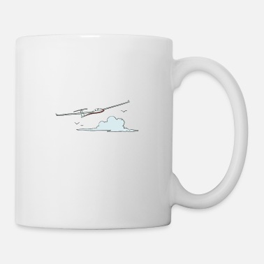 Glider Glider flying in the clouds - Mug